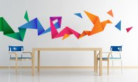 Origami Bird Wall Decal Sticker Vinyl  Moonwallstickers ...