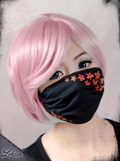 Fashion Red Sakura Face Mask Dust Mask Surgical Mask Black or White Mask on Storenvy