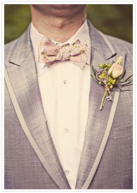 self-tie Wedding Mens Bow Tie - Pink, gold and grey/blue ...