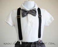 Grey and Black Bow Tie and Suspenders on Storenvy
