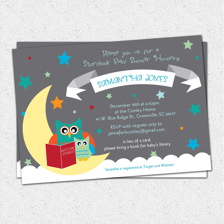Baby Shower Book Invitations