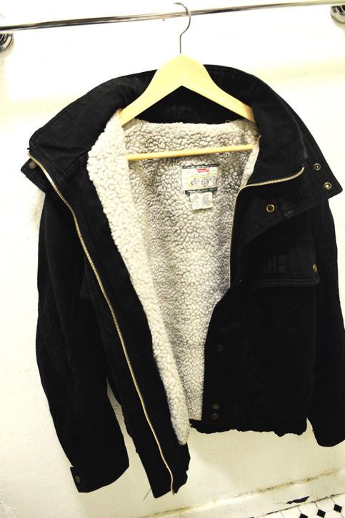Vintage Black Denim Jacket with Wool Inside on Storenvy