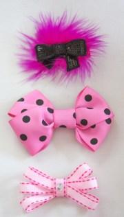 hot pink hair bow set newborn