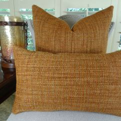 Luxury Sofa Throw Pillows Bernhardt Vincent Sleeper 18 Quot X Designer Decorative Pillow Orange