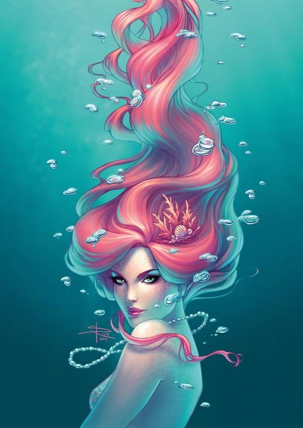 Beautiful Siren Mermaid Art