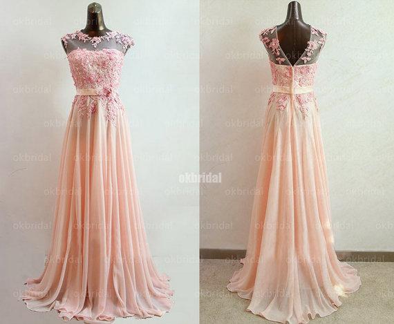 Lace Bridesmaid Dresses, Blush Pink Bridesmaid Dresses