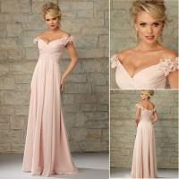 Blush pink bridesmaid dress, long Bridesmaid Dress ...
