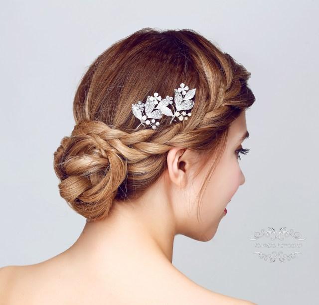 handmade silver wedding hair accessories, bridal hair pins, bridesmaid hair pin, wedding hair piece, bridesmaid hair pieces from flymfly