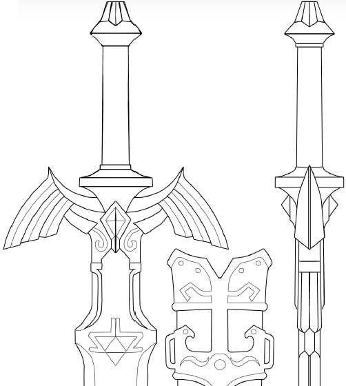 Twilight Princess Master Sword Pattern on Storenvy
