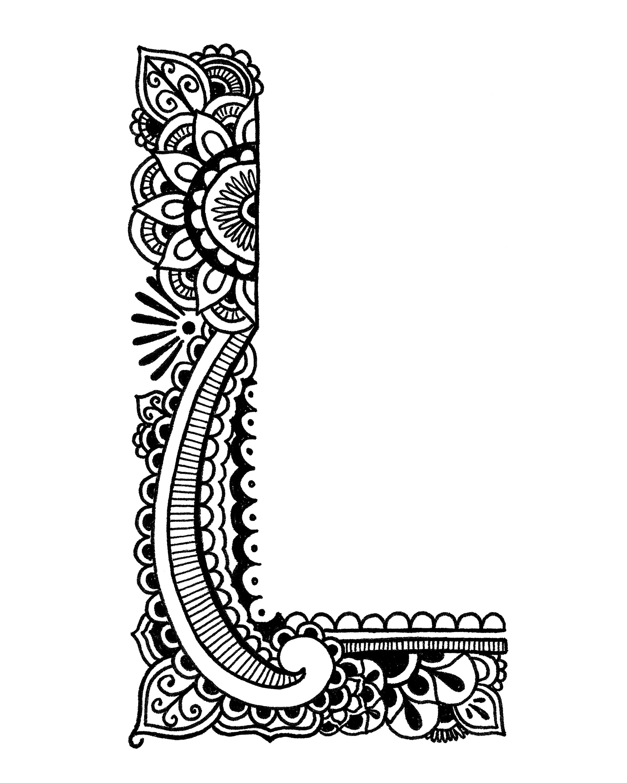 COLORING PAGES Henna Alphabet · Exodus Illustration