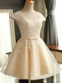 short cute simple homecoming dress, lace pretty homecoming ...