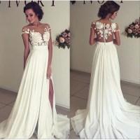 See through lace wedding dress, beach wedding gown, Sexy ...