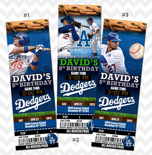 LA Dodgers Invitations On Storenvy