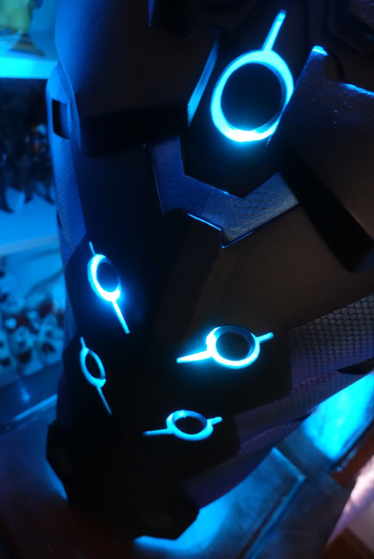 Carbon Fibre Iphone X Wallpaper Overwatch Genji Carbon Fiber Skin Cosplay Armor Buy On