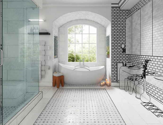 maillard salle de bains carrelage