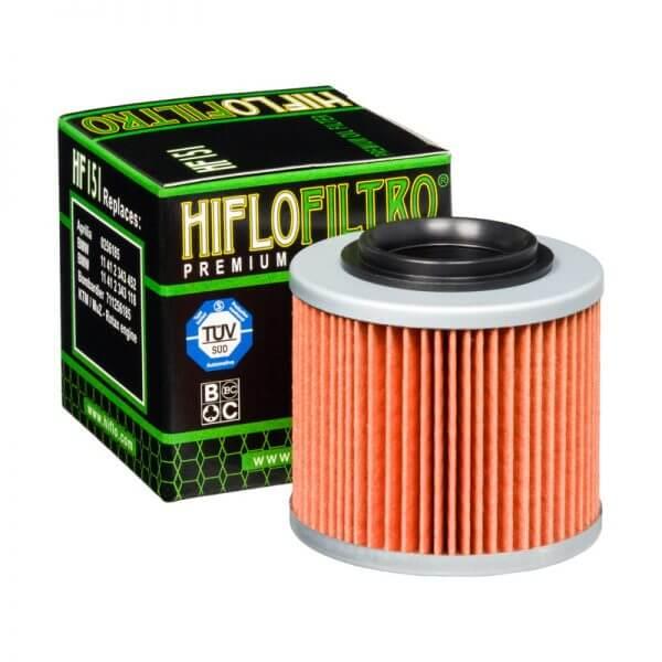 Фильтр масляный HIFLOFILTRO HF151 для мотоцикла Aprilia, BMW, Jawa