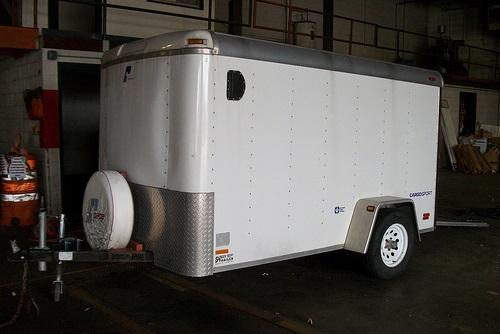 single axe cargo trailer