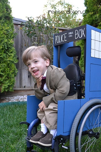 A little Doctor wheelchair costume