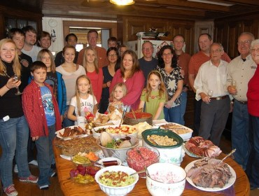 Big family picture on Thanksgiving day