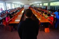 佛學院學生在麻坡「愛我青年」當糾察