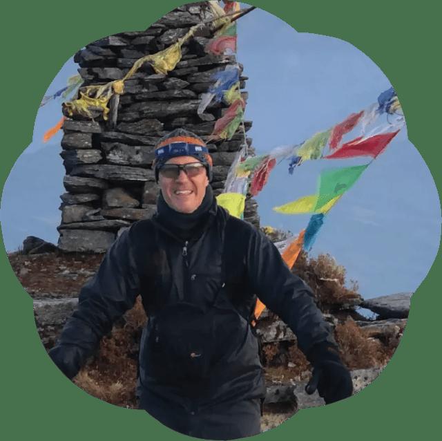 William on a mountain ridge