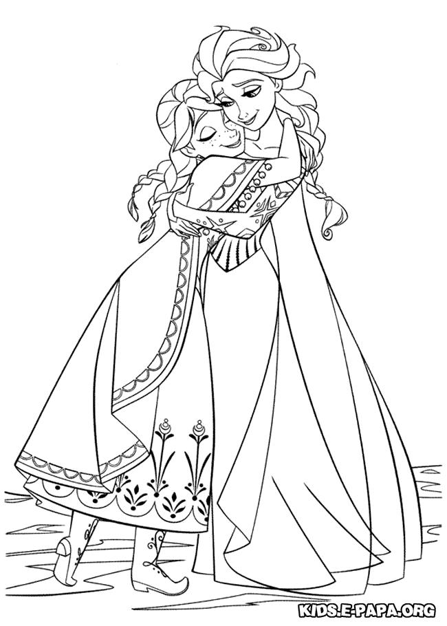 Ausmalbilder Anna Und Elsa ausmalbilder