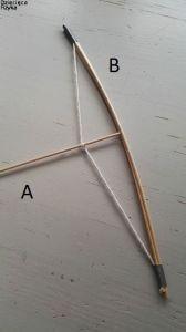 mocowanie sznurka i patyczków