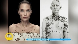 Angelina Jolie in a spectacular session.  Live bees covered her body: