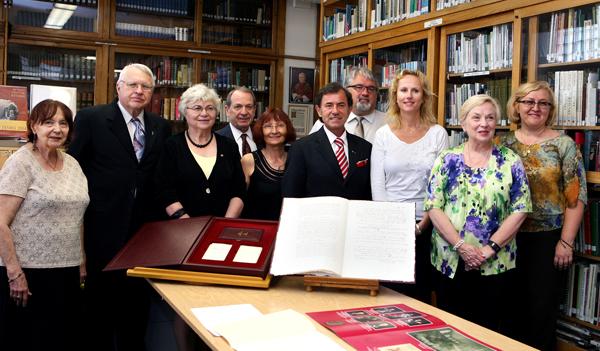 Przekazanie BMPA faksymile Konstytucji 3 Maja fot. J. Siegel