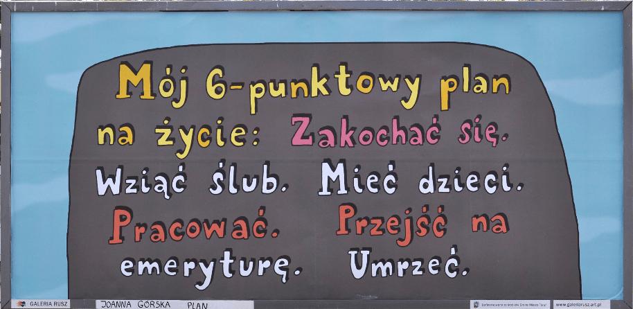 """""""Plan na życie"""" wg artystów Galerii Rusz"""