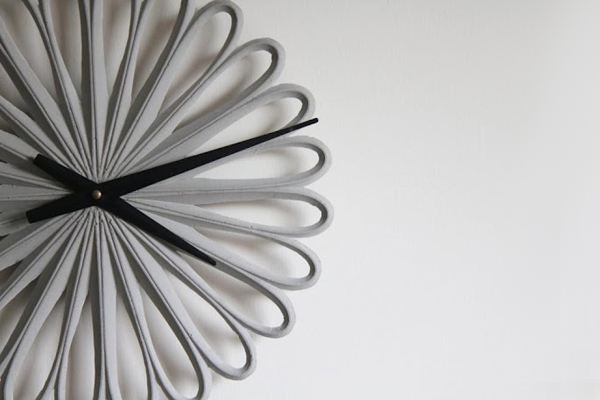 3D Printed Concrete Wall Clocks By Lee Labs : DZine Trip