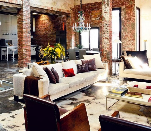 Rustic Interiors - http://dzinetrip.com/dirty-chic-interiors-imperfection-becomes-chic-when-past-meets-present