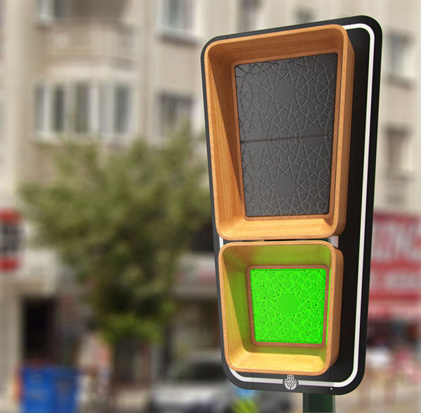 Traffic Signal Lighting In Istanbul Designed By Art