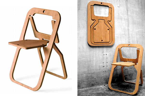 folding chairs wooden round kitchen table and walmart chair made from a single piece of wood desile by christian