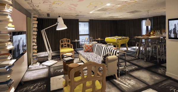 Urban Art Hotel Mama Shelter In Lyon By Philippe Starck