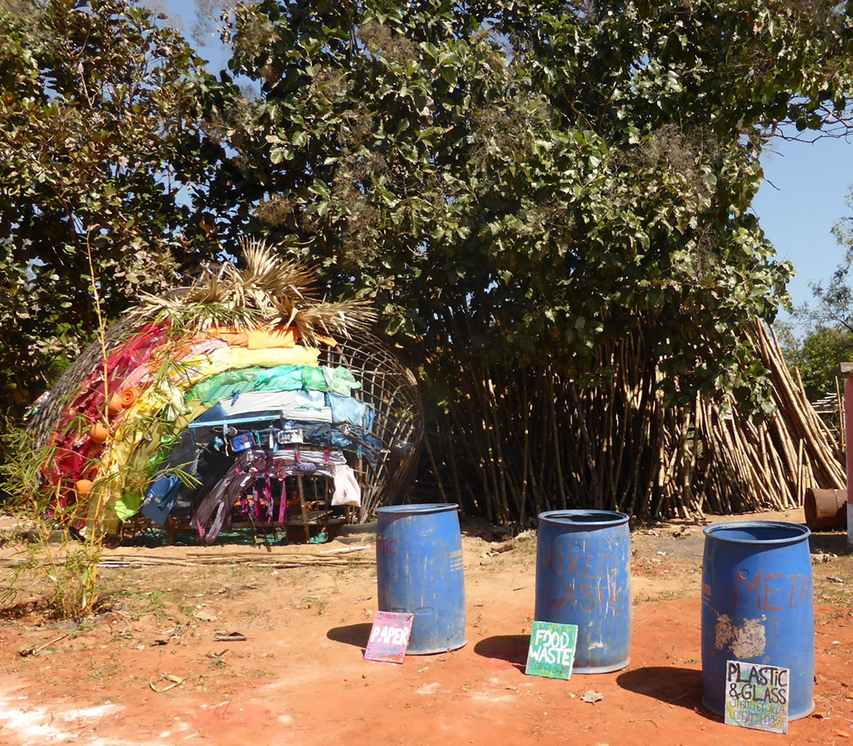 Eco Art Instllations in Auroville by artist Char Evans - 08