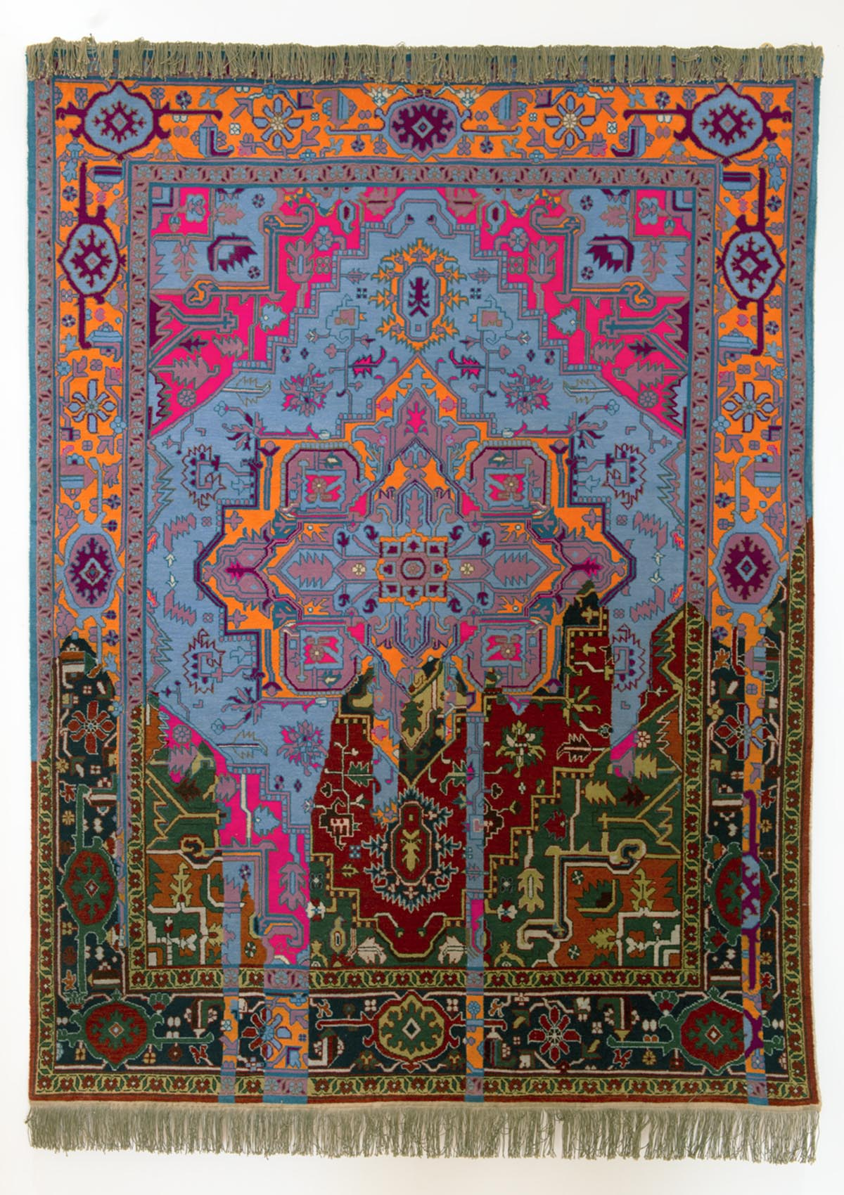 Faig Ahmed's modern interpretations of traditional carpet design -01