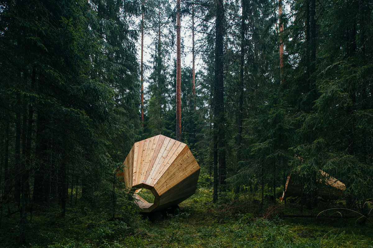 Gigantic Wooden Megaphone Installation at the Pähni Nature Centre in Estonia - 04
