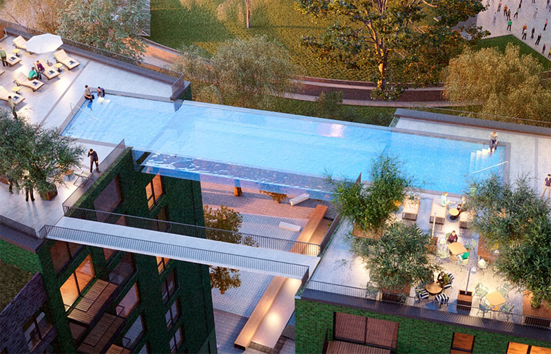 Glass bottomed sky pool at Nine Elms in London - 07