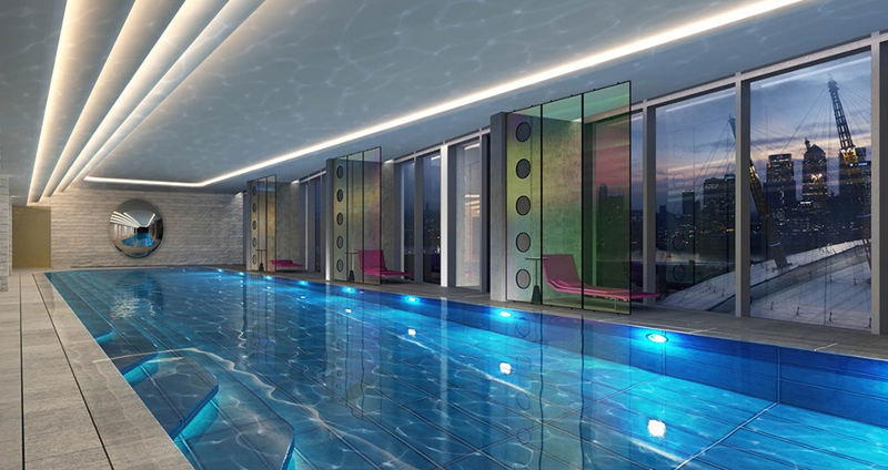 Glass bottomed sky pool at Nine Elms in London - 08