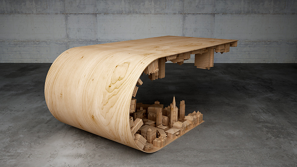 Inception - 3D Printed coffee table by Stelios Mousarris - 03