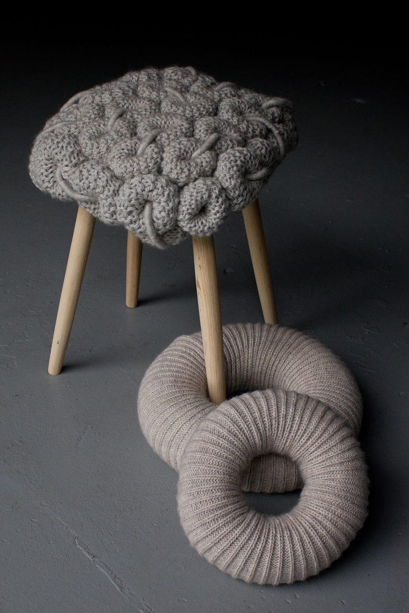 Elegant Knitted Stools By Claire Anne O Brien   02 ... Photo Gallery