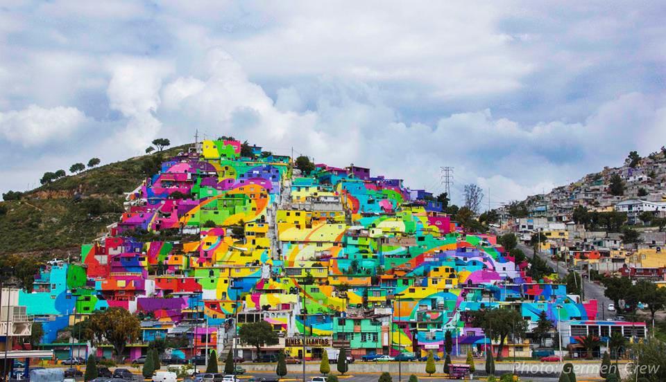 Macro Mural in Mexico by Germen Crew - 02