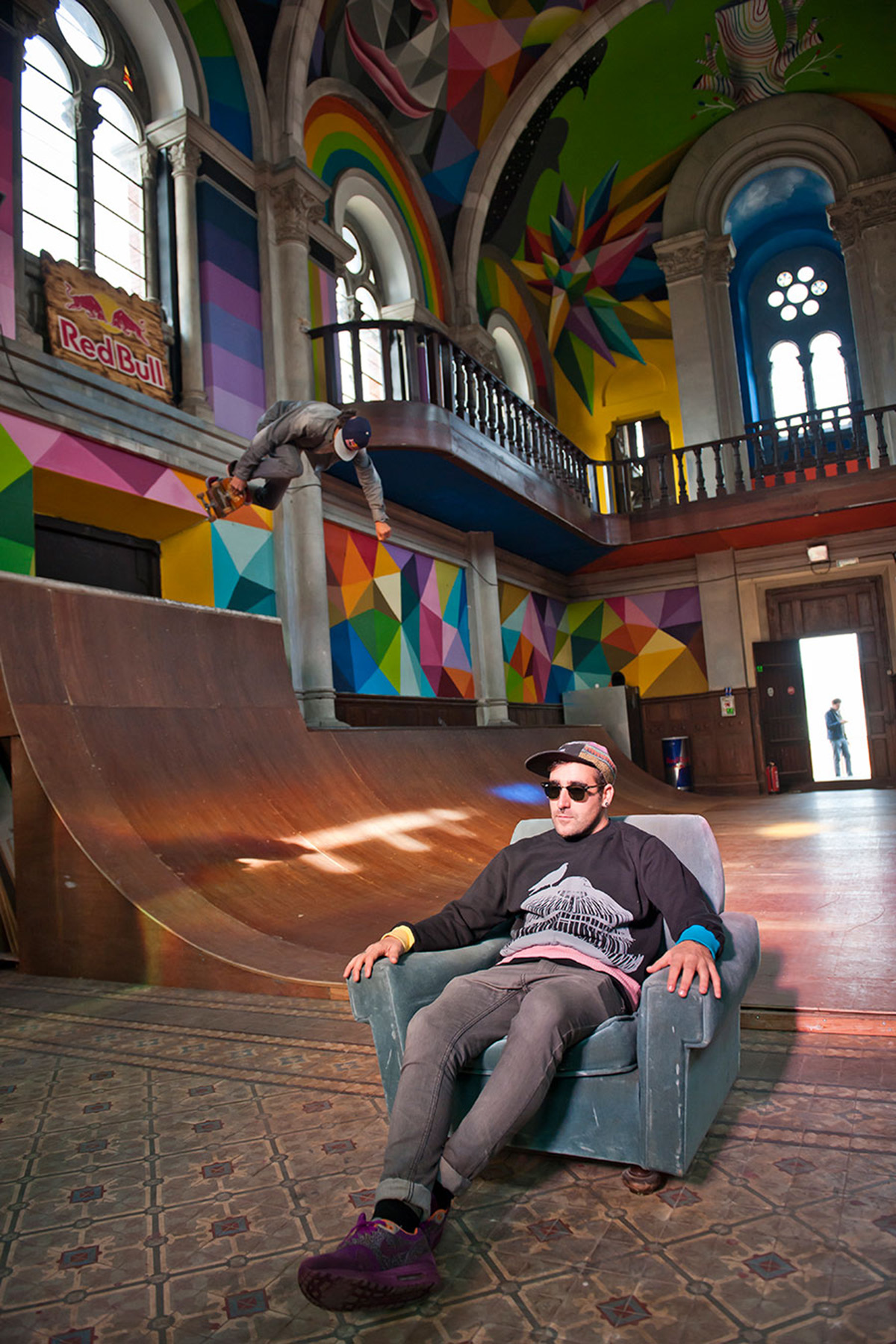 Skate Church in Spain receives a personal touch by artist Okuda San Miguel - 01