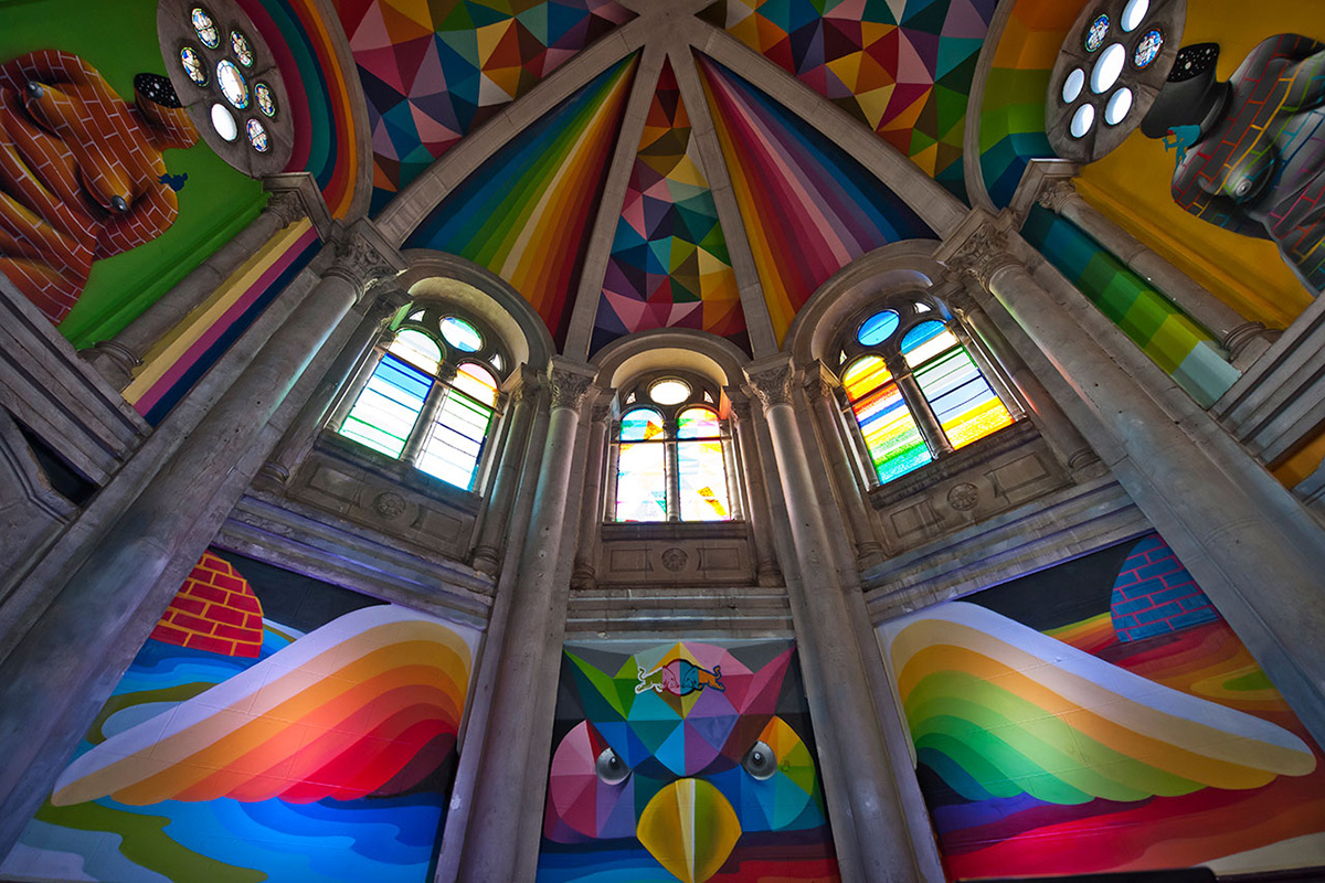 Skate Church in Spain receives a personal touch by artist Okuda San Miguel - 03