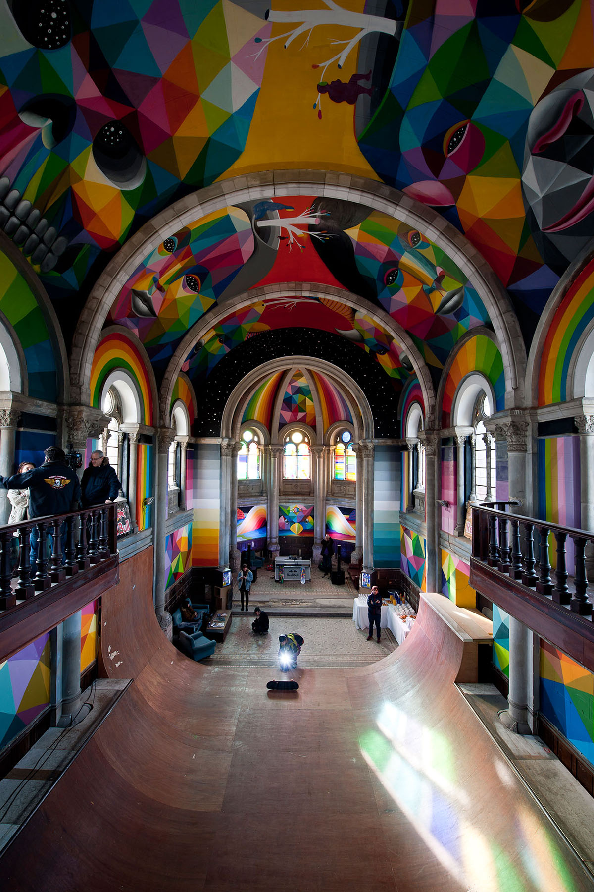 Skate Church in Spain receives a personal touch by artist Okuda San Miguel - 6