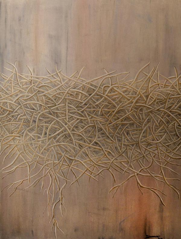 "Empty Nest - 40"" x 30"" Oil on Canvas $2,800"