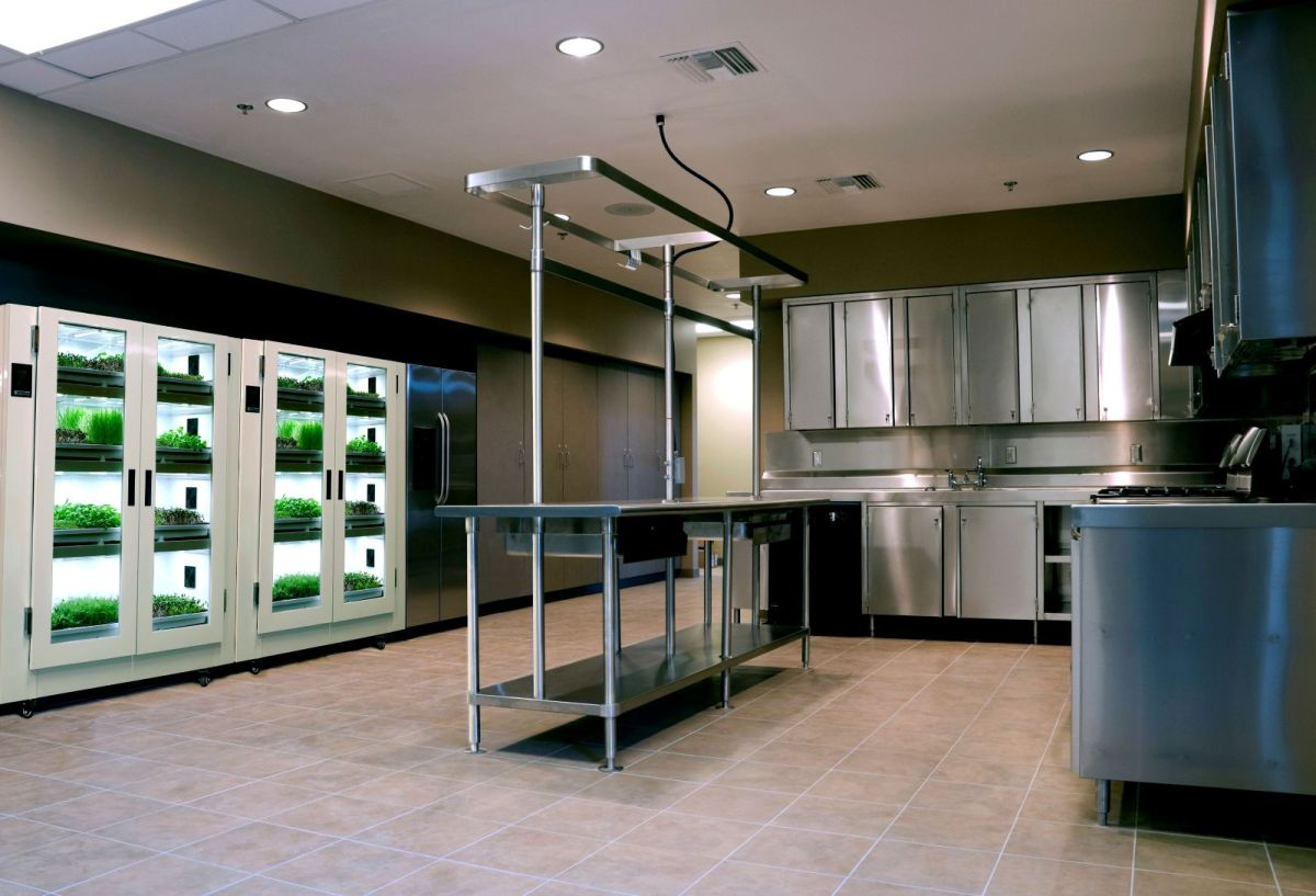 Urban Cultivator in a Restaurant Kitchen