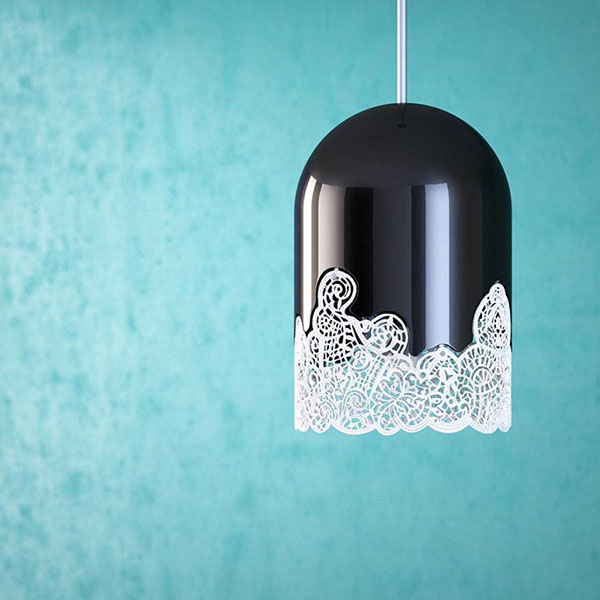 3D印刷灯在墙上创造出惊人的图案