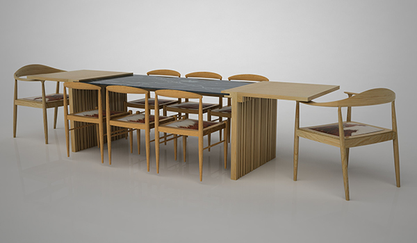 Slices Modular Dining Table By Neptun Ozis 07